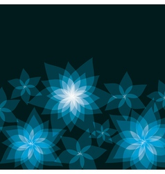 Abstract floral background with flowers lily vector image vector image