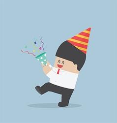 Businessman happy in celebration party vector image vector image