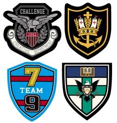 classic heraldic emblem badge vector image vector image