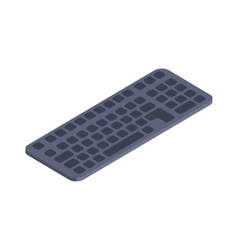Computer keyboard isometric flat icon vector image