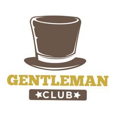 Gentlemen club logo in vintage style on white vector