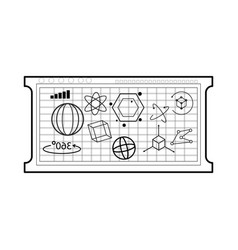 mathematical calculations icon image vector image