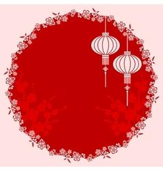 Oriental Chinese Lantern vector image vector image