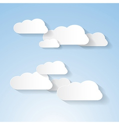 Paper Clouds on Blue Sky vector image vector image