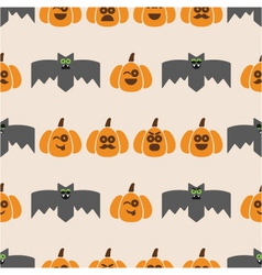seamless pattern of bats and pumpkins vector image vector image