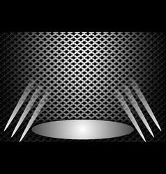 Stage metallic vector