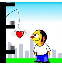 love carton vector image vector image