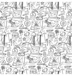 Pirates seamless pattern vector image