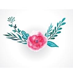 rose watercolor vector image