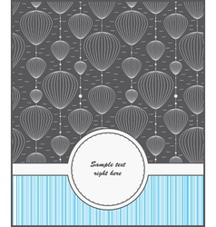 template cards for gifts and postcards vector image vector image