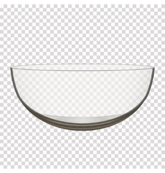 transparent glass bowl vector image vector image