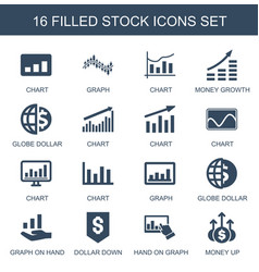 16 stock icons vector image