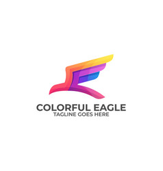 abstract eagle colorful template vector image
