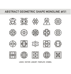 Abstract geometric shape monoline 51 vector