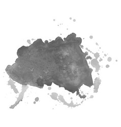 Abstract watercolor grayscale background vector