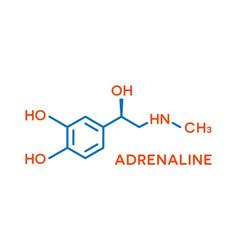 Adrenaline hormone molecular formula human body vector