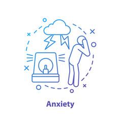 Anxiety concept icon vector
