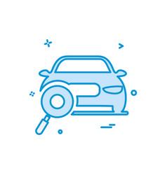 Auto workshop search car icon design vector