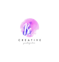 be watercolor letter logo design with purple vector image