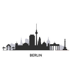 berlin city skyline silhouette vector image
