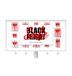 billboard with ads of black friday sale sales vector image