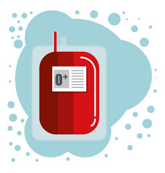 blood bag hanging medical icon vector image
