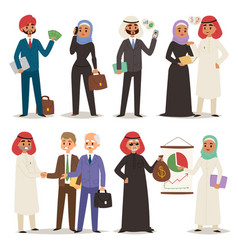 business arabic people teamwork vector image