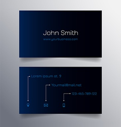 Business card template - blue and black design vector
