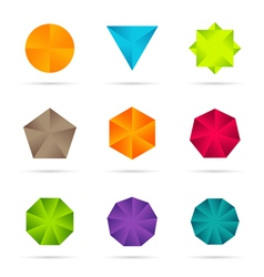 Business Design elements icon set vector image
