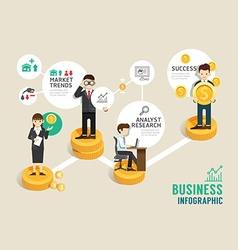 Business stock market board game flat line icons vector image