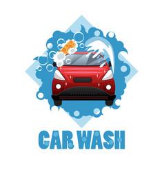 car wash poster vector image