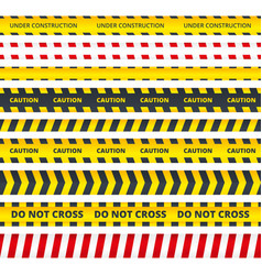 caution stripe danger or attention messages vector image