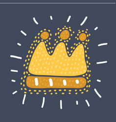 chalked childlike drawing crown vector image