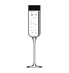 champagne glass icon simple style vector image
