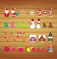 Christmas scrapbook elements vector