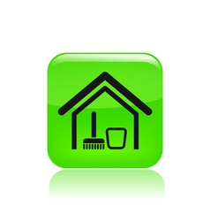 clean house icon vector image