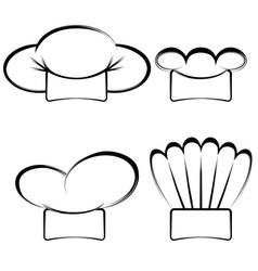 collection chefs hats vector image