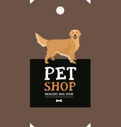 Dog collection golden retriever vector