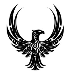 Eagle tattoo shape vector