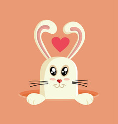easter bunny cartoon design vector image
