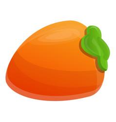 Eco persimmon icon cartoon style vector