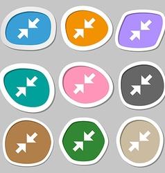Exit full screen symbols Multicolored paper vector