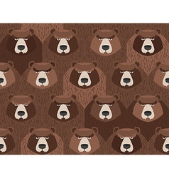 flock of bears Seamless pattern of animals vector image