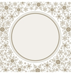 Frame template for greeting Christmas card vector