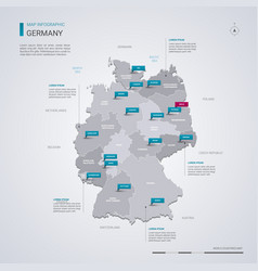 Germany map with infographic elements pointer vector