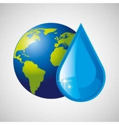 Globe earth weather meteorology drop rain vector