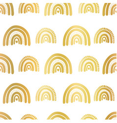 gold foil rainbows seamless repeating vector image