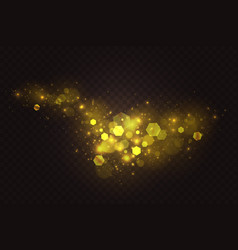 golden sparkle bokeh abstract light effect vector image