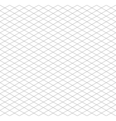 Gray isometric grid seamless pattern vector