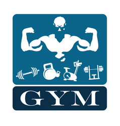 gym and fitness emblem vector image